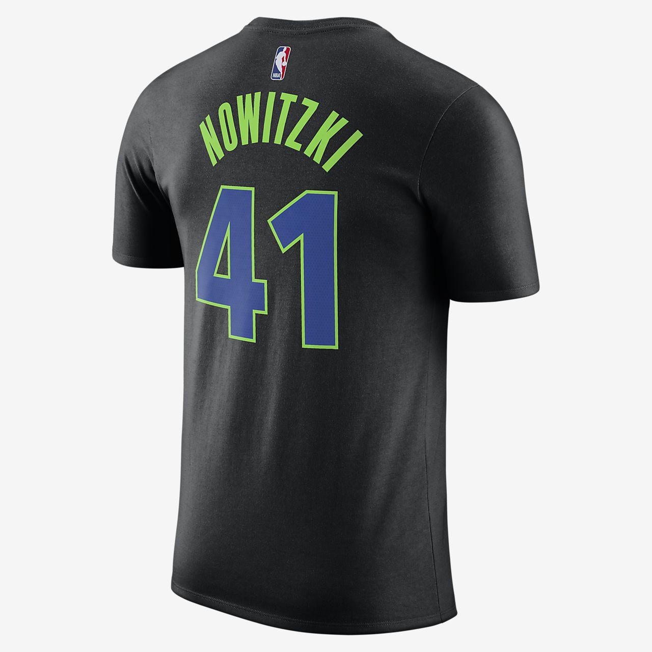 ... Dirk Nowitzki Dallas Mavericks City Edition Nike Dry Men's NBA T-Shirt