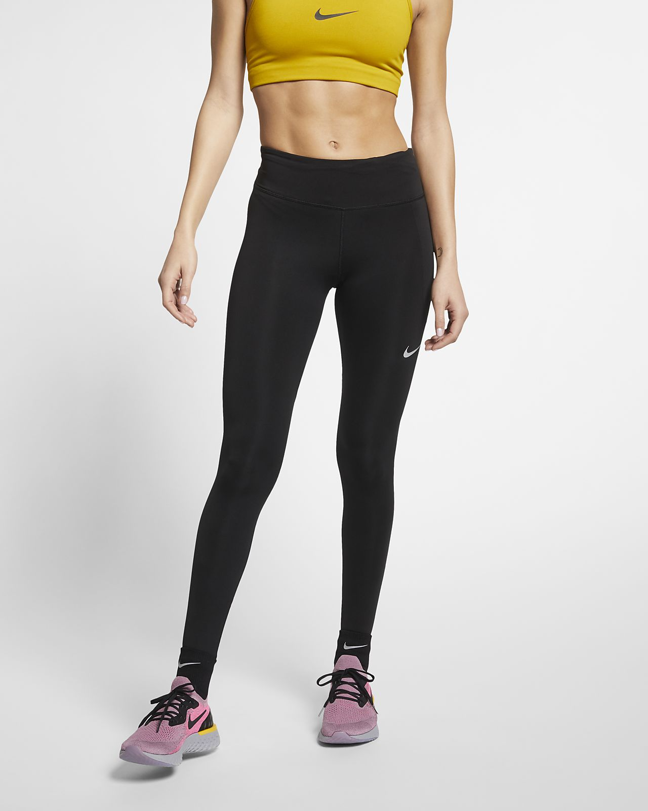 กางเกงวิ่งรัดรูปผู้หญิง Nike