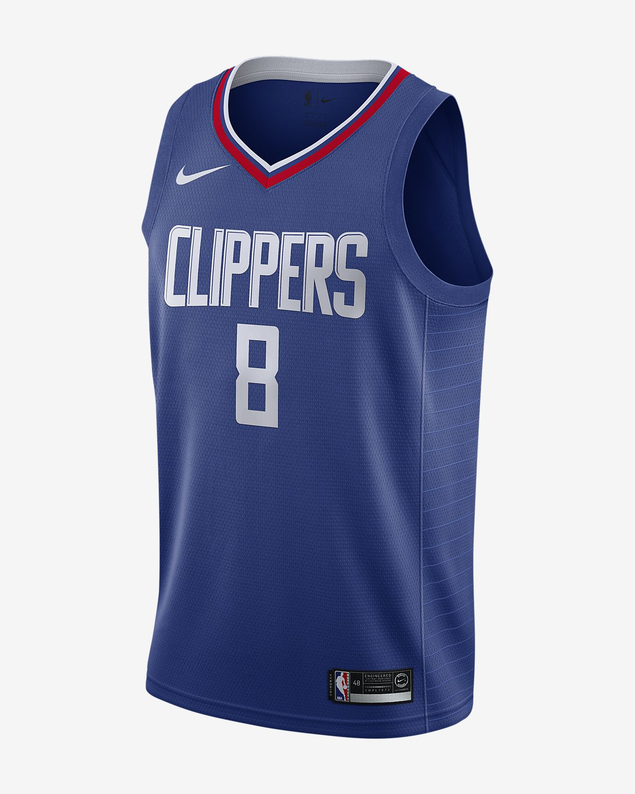 Maillot connecté Nike NBA Danilo Gallinari Icon Edition Swingman (LA Clippers) pour Homme