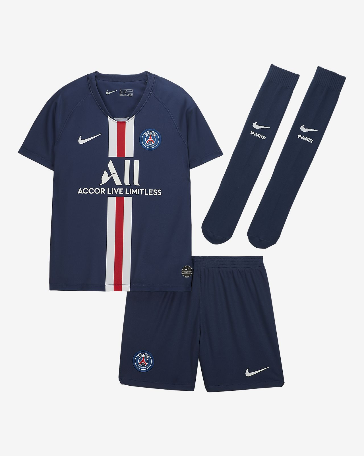 Paris Saint-Germain 2019/20 Home Younger Kids' Football Kit