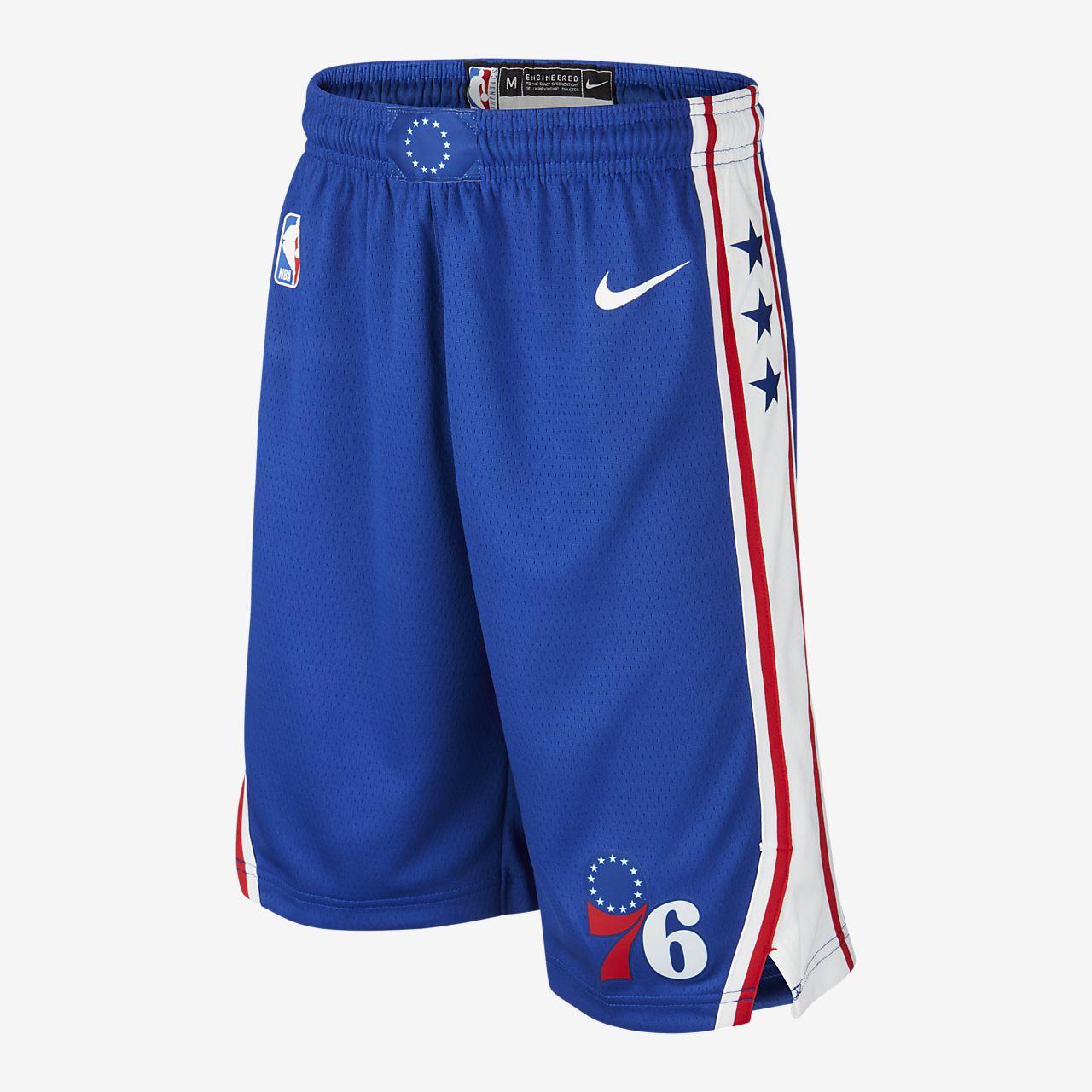 Shorts 76ers Icon Edition Swingman Nike NBA Ragazzi