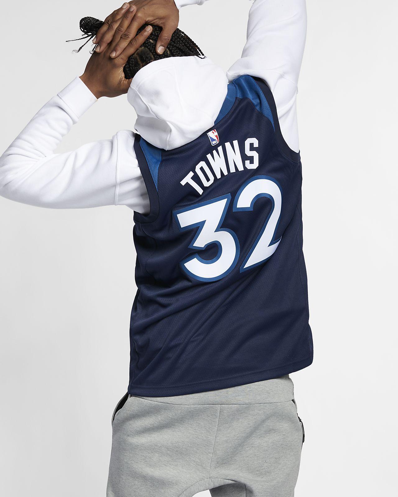 707247cfef38 ... Karl-Anthony Towns Icon Edition Swingman (Minnesota Timberwolves) Nike  NBA Connected Trikot für