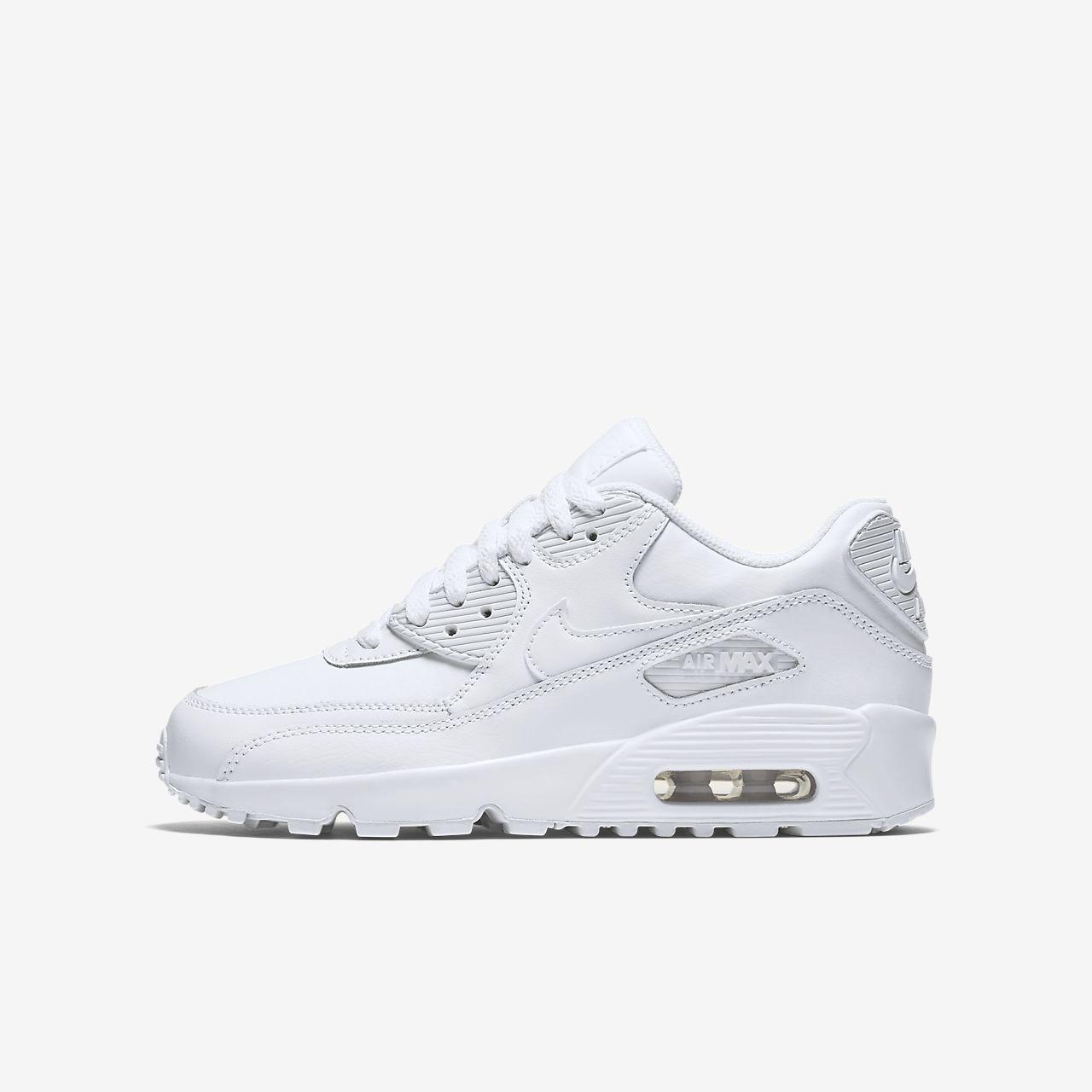 Nike Air Max 90 Leather Big Kids' Shoe
