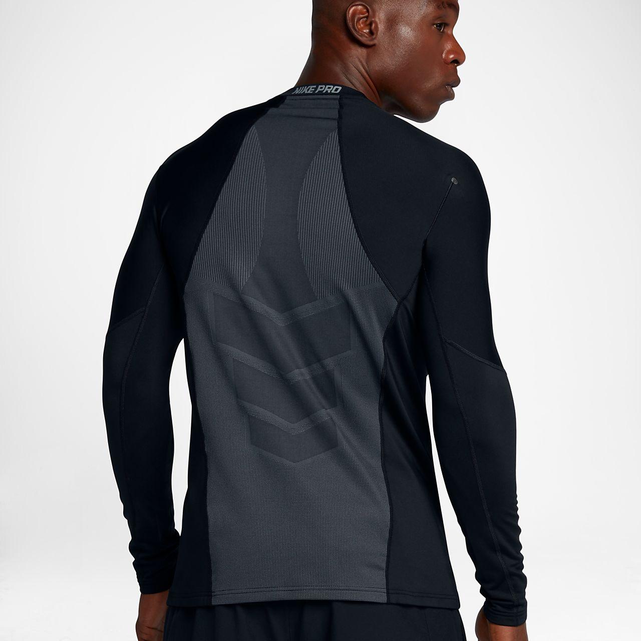 Nike Pro Men's Long Sleeve Training Top Black/Cool Grey