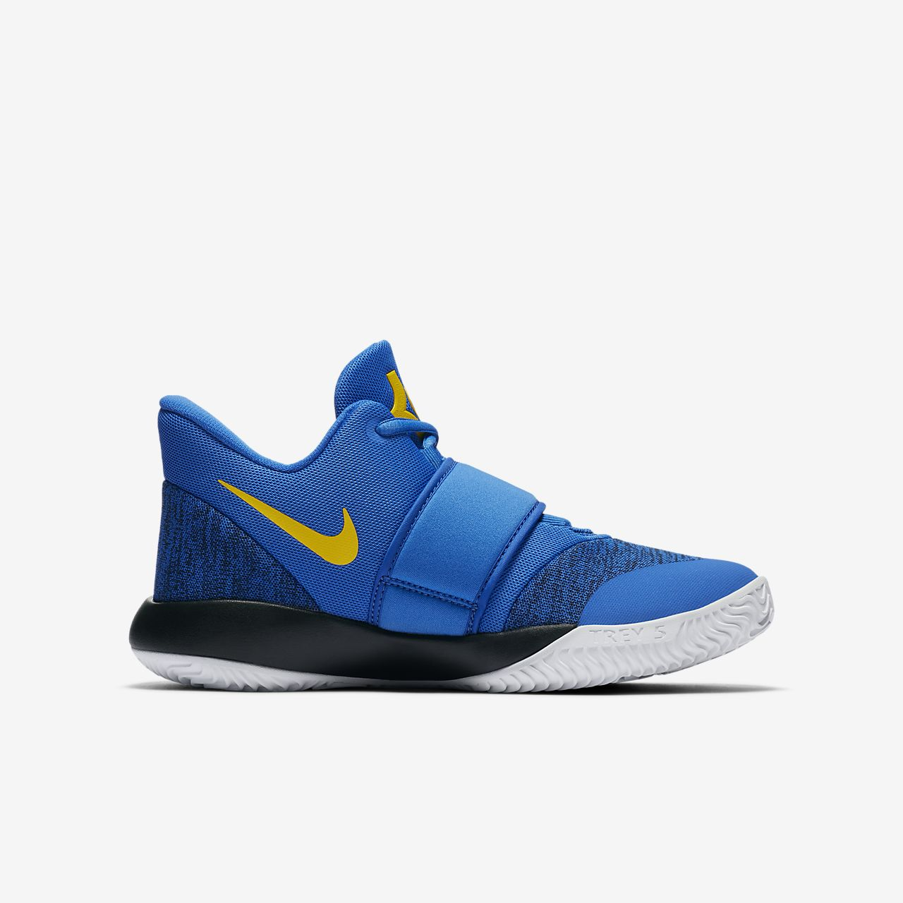 Nike Performance KD TREY 5 VI - Basketball shoes - signal blue/black/white/amarillo mNpRmJX