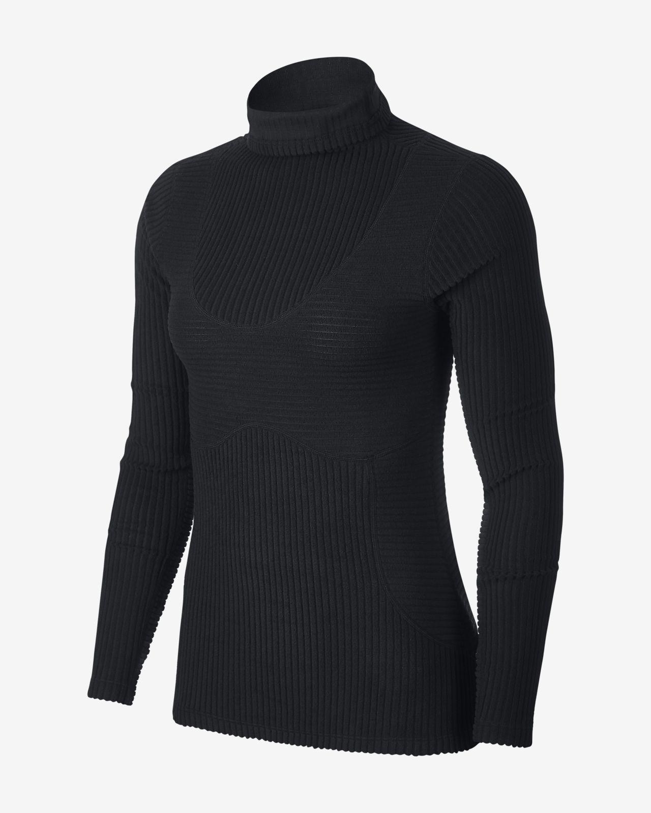 Nike Pro HyperWarm 女子训练丝绒上衣