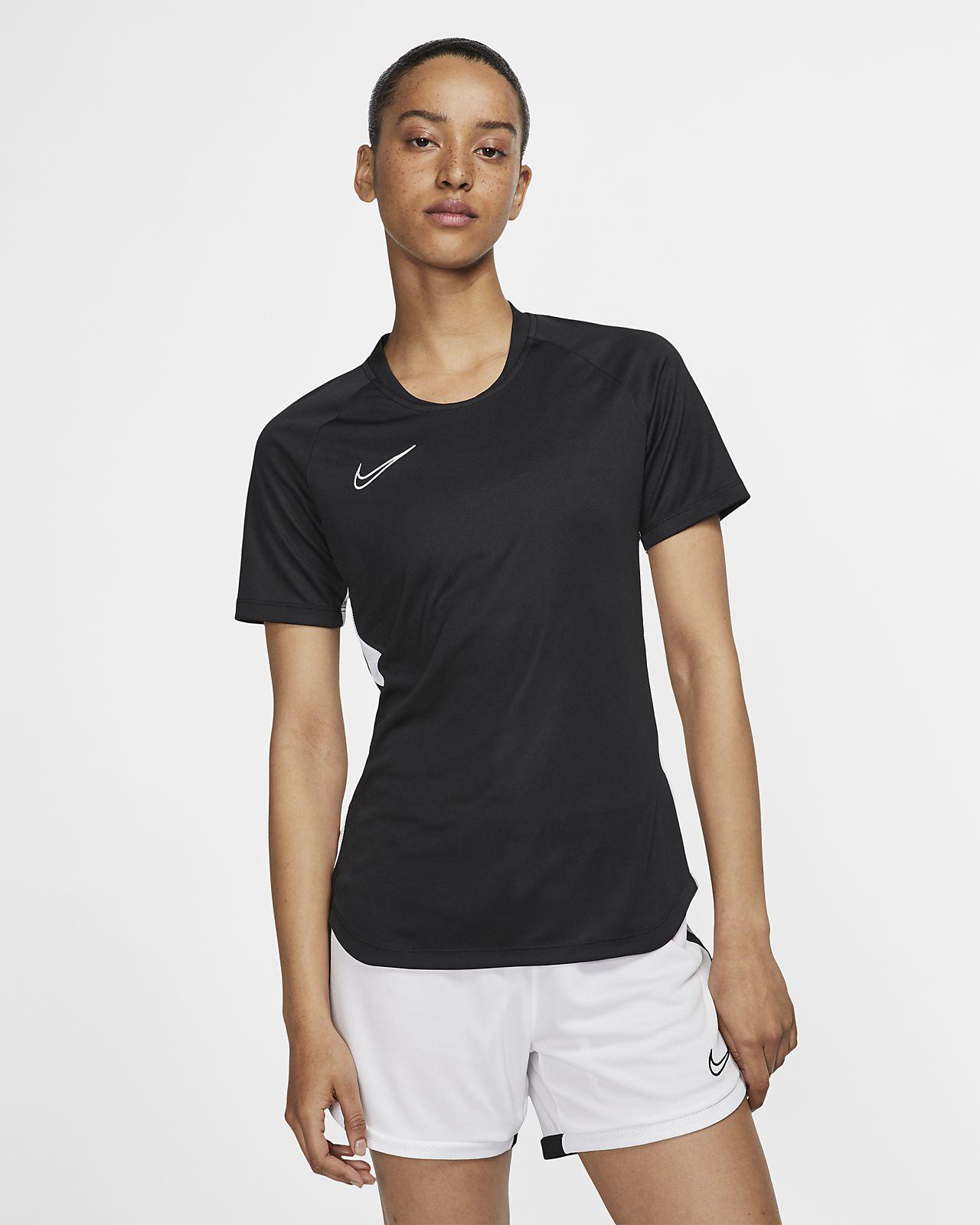 Top de fútbol de manga corta para mujer Nike Dri-FIT Academy