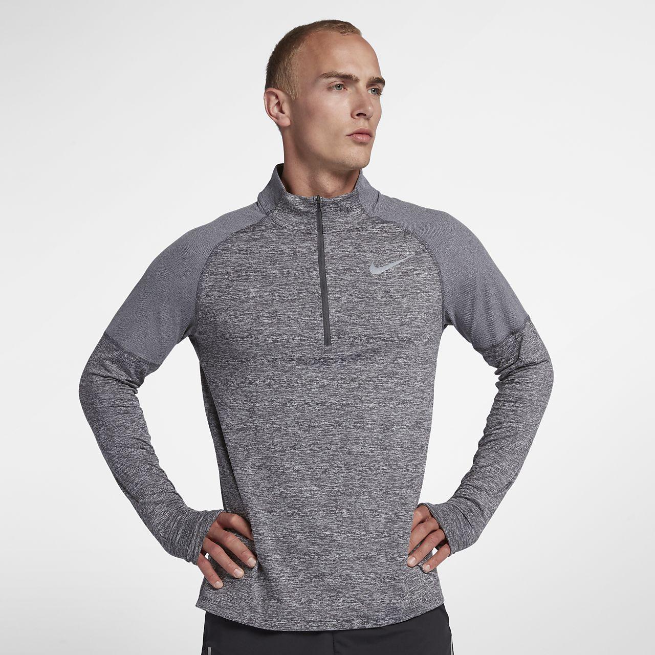 bd5fb07ce Męska koszulka do biegania z zamkiem 1/2 Nike. Nike.com PL