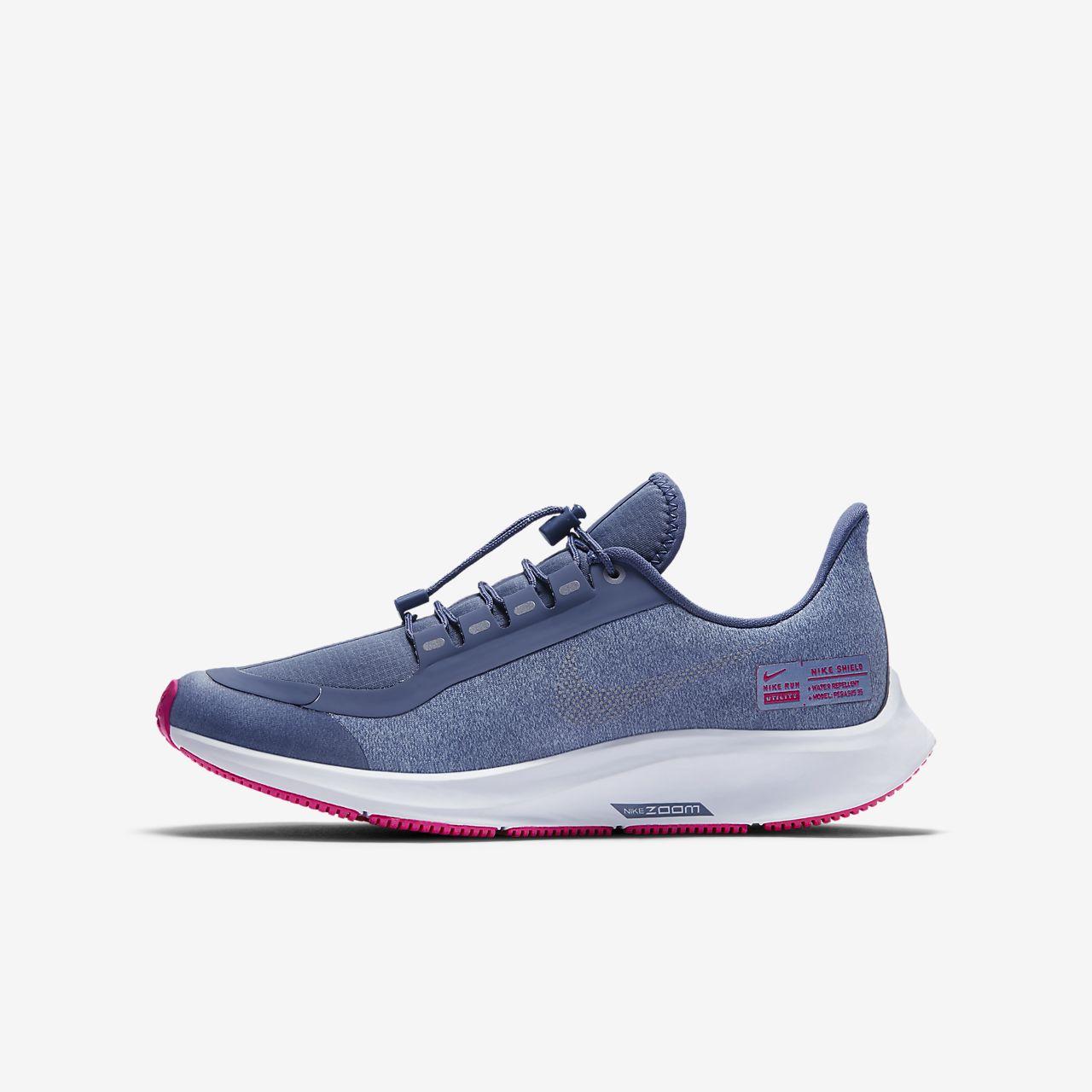 77d6622249c65 Nike Air Zoom Pegasus 35 Shield Younger Older Kids  Running Shoe ...