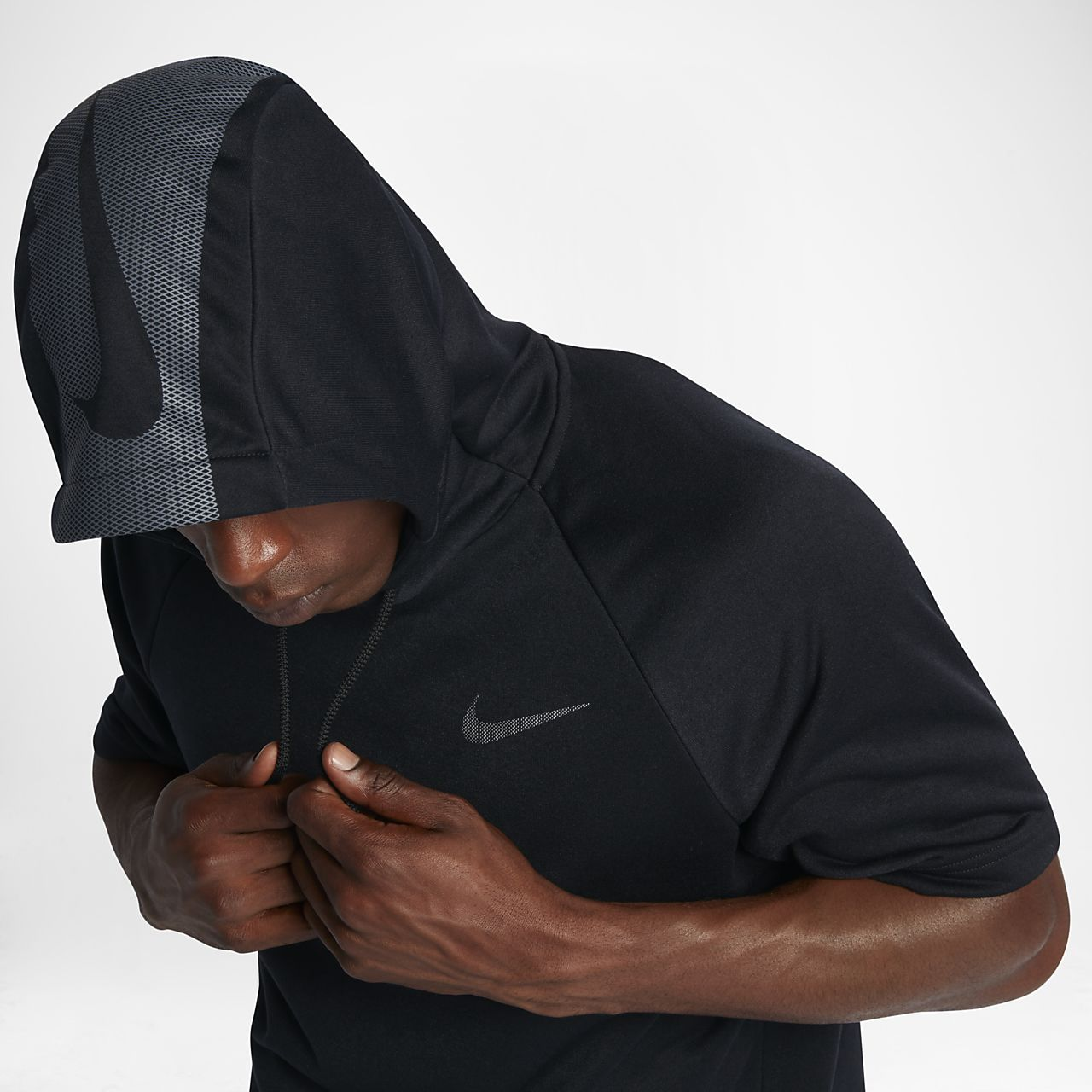 Nike Dry 男子短袖训练连帽衫