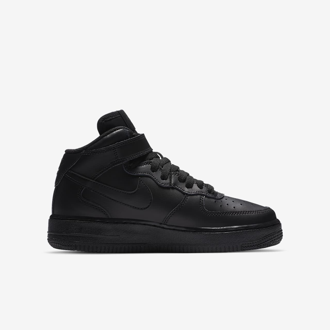 nike air force 1 mid all black nz