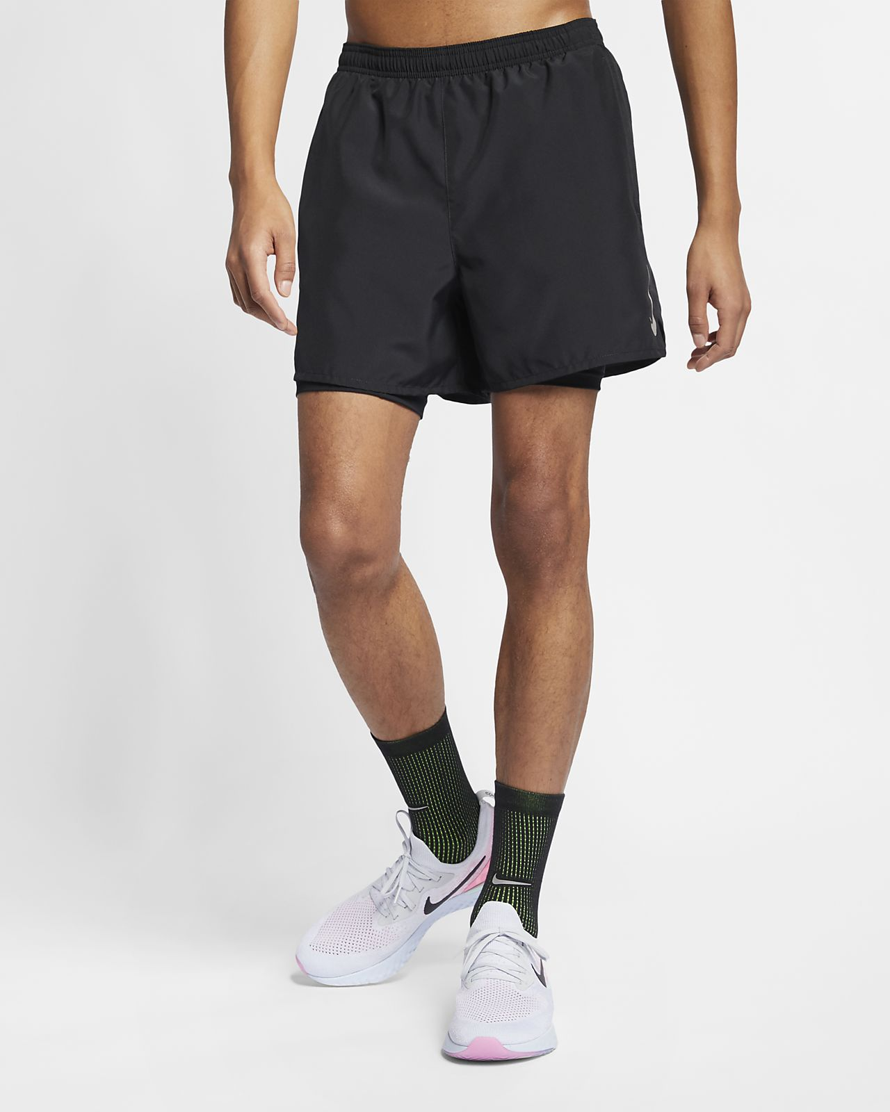 best sneakers 77372 b9a05 ... Nike Challenger Men s 2-in-1 Running Shorts