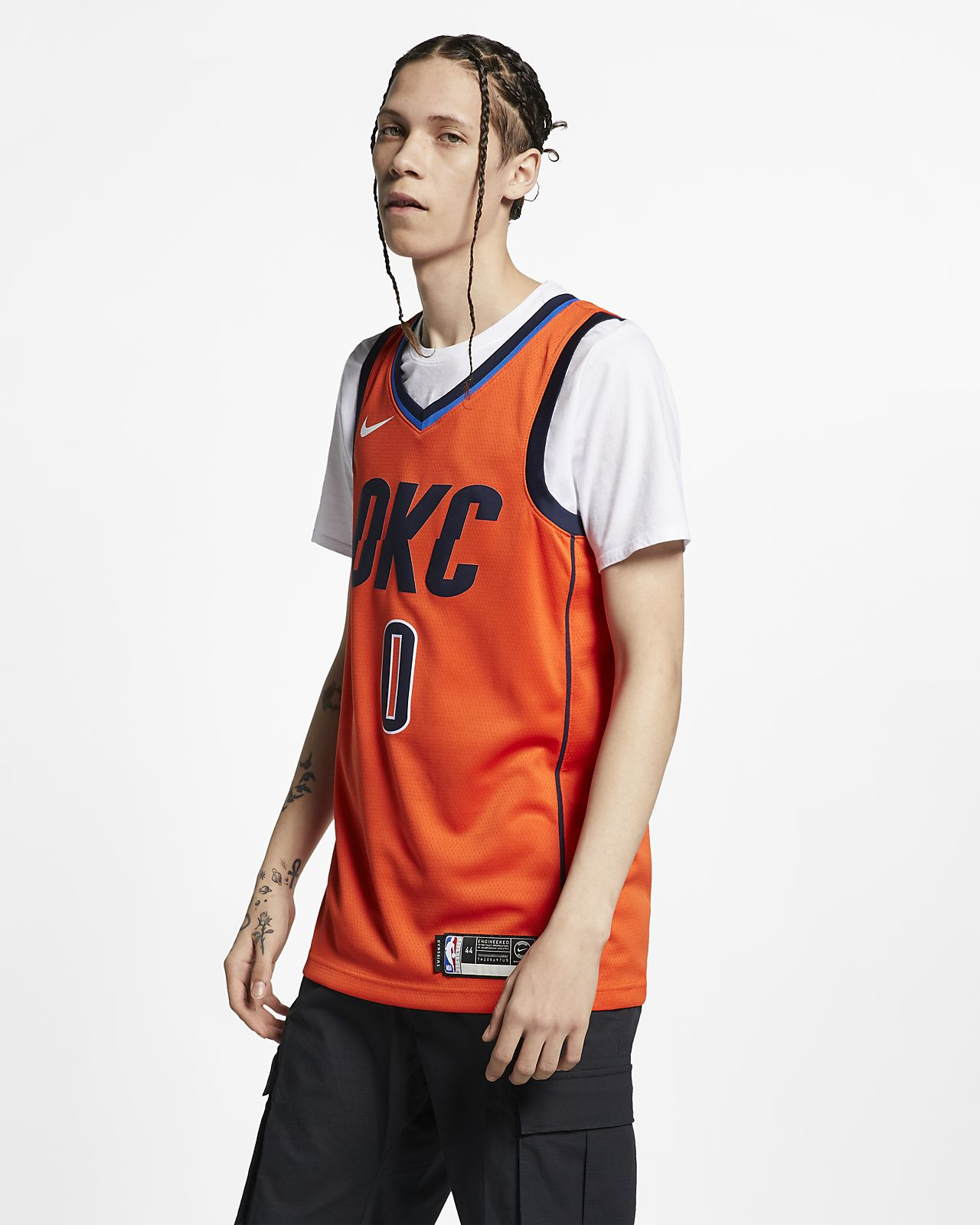 new styles b30c7 3bed1 Russell Westbrook Earned City Edition Swingman (Oklahoma City Thunder)  Men's Nike NBA Connected Jersey