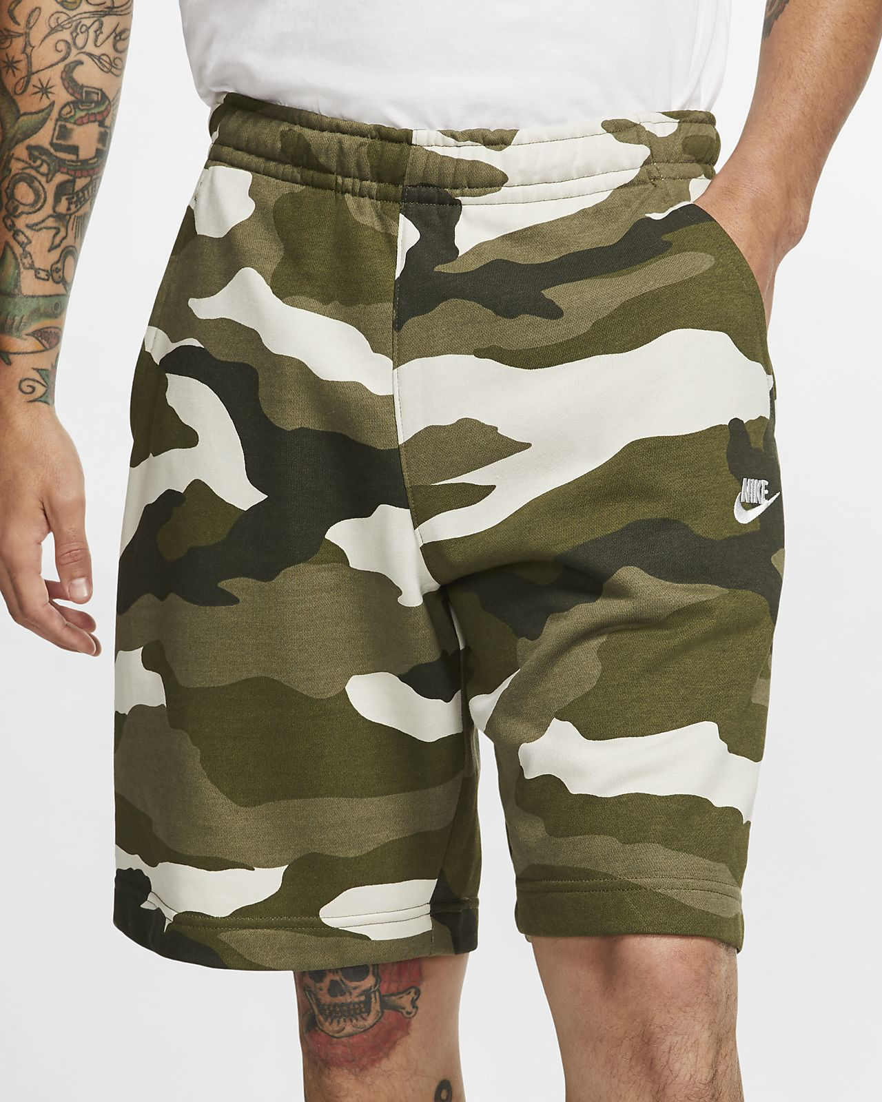 Shorts camuflados de French Terry para hombre Nike Sportswear Club