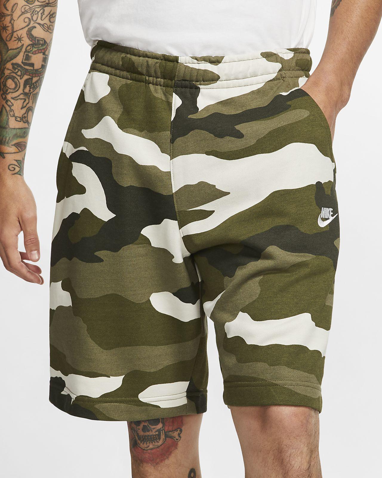 Nike Sportswear Club Camo-Herrenshorts aus French-Terry
