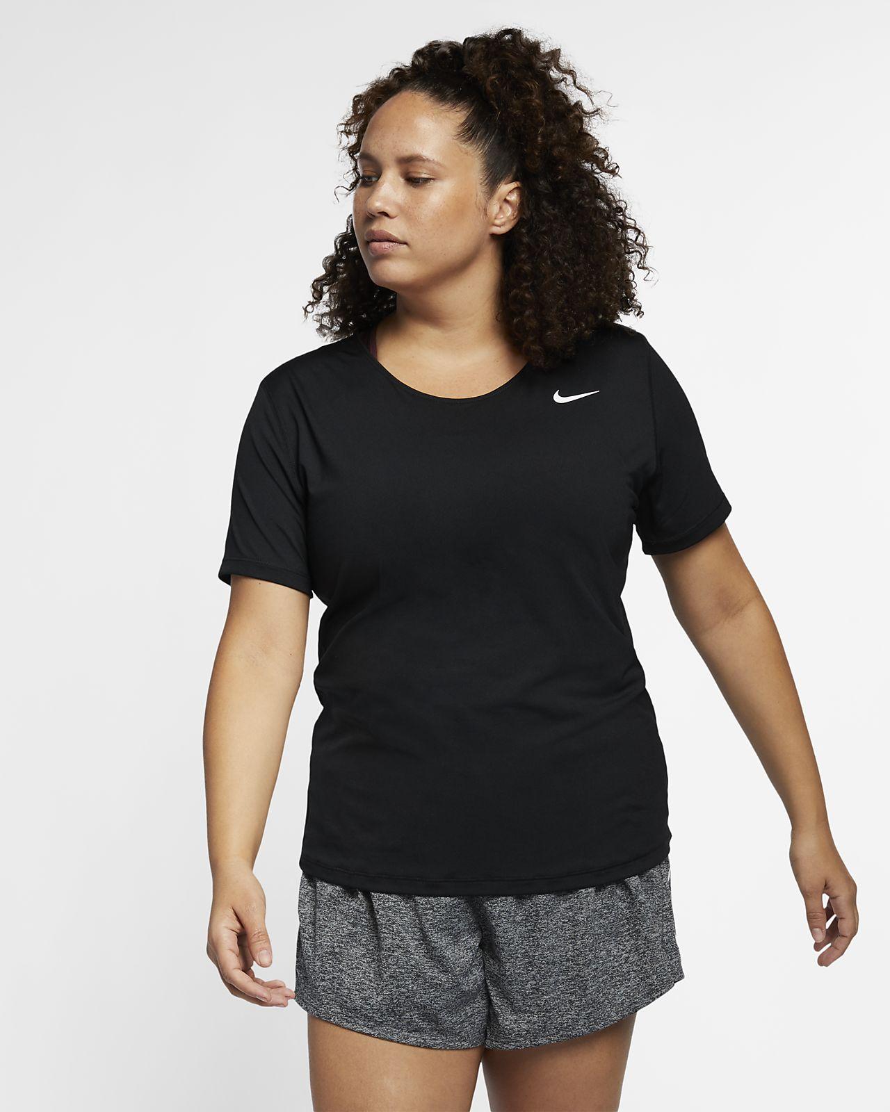 Top de entrenamiento de manga corta para mujer Nike Pro (talla grande)