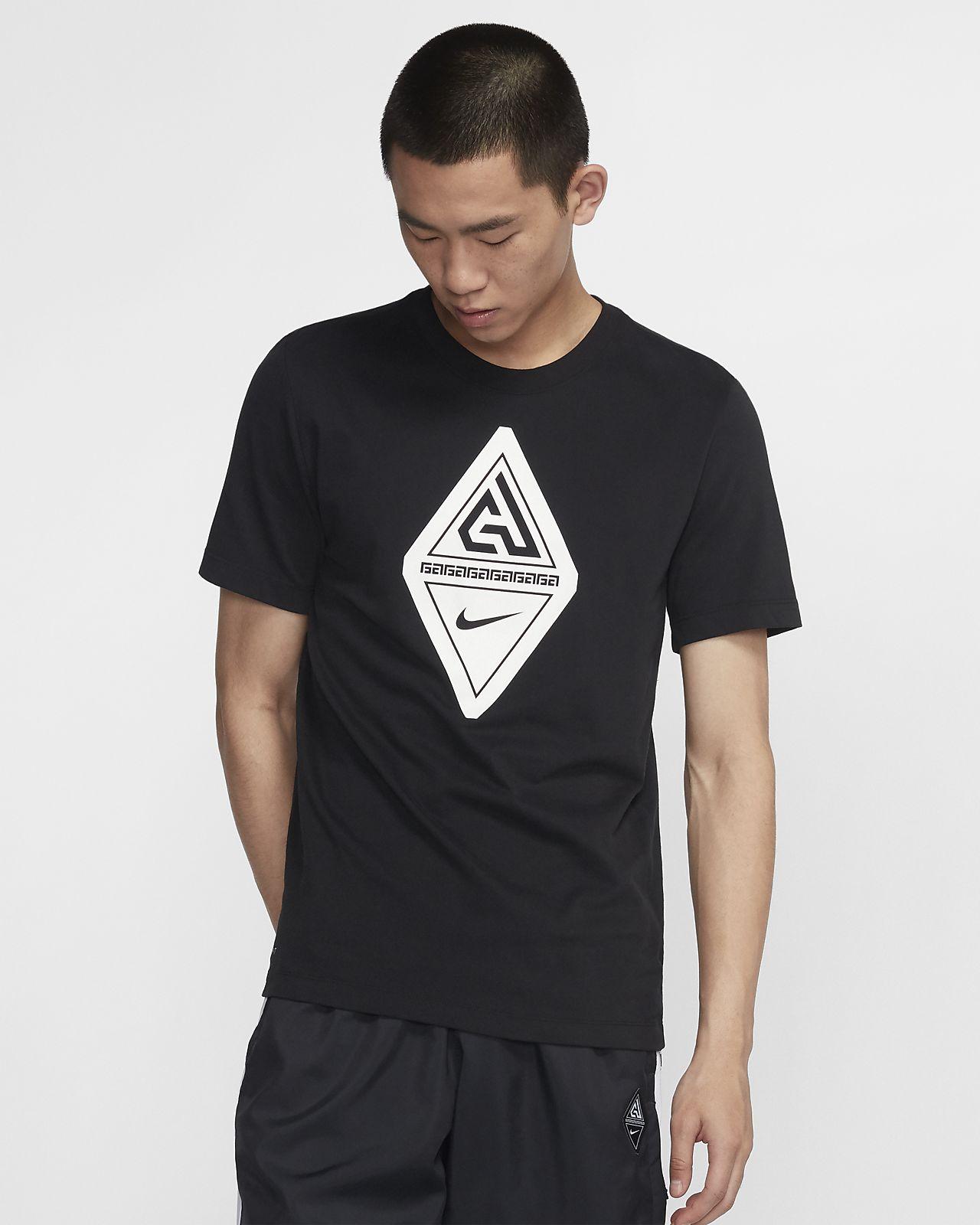 เสื้อยืดบาสเก็ตบอลผู้ชายมีโลโก้ Giannis Nike Dri-FIT