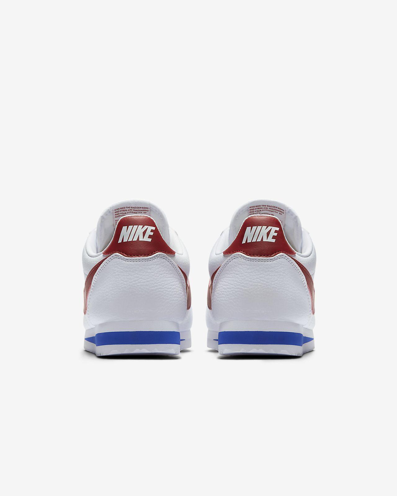 nike classic cortez nylon blanco rojo azul
