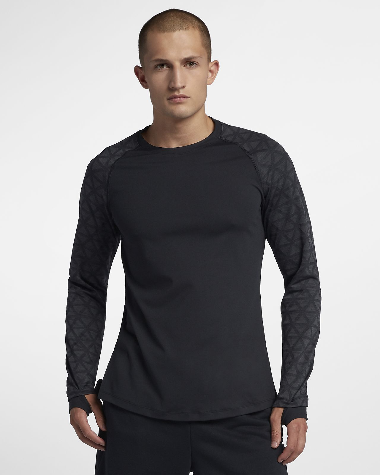 Męska koszulka treningowa z długim rękawem Nike Pro