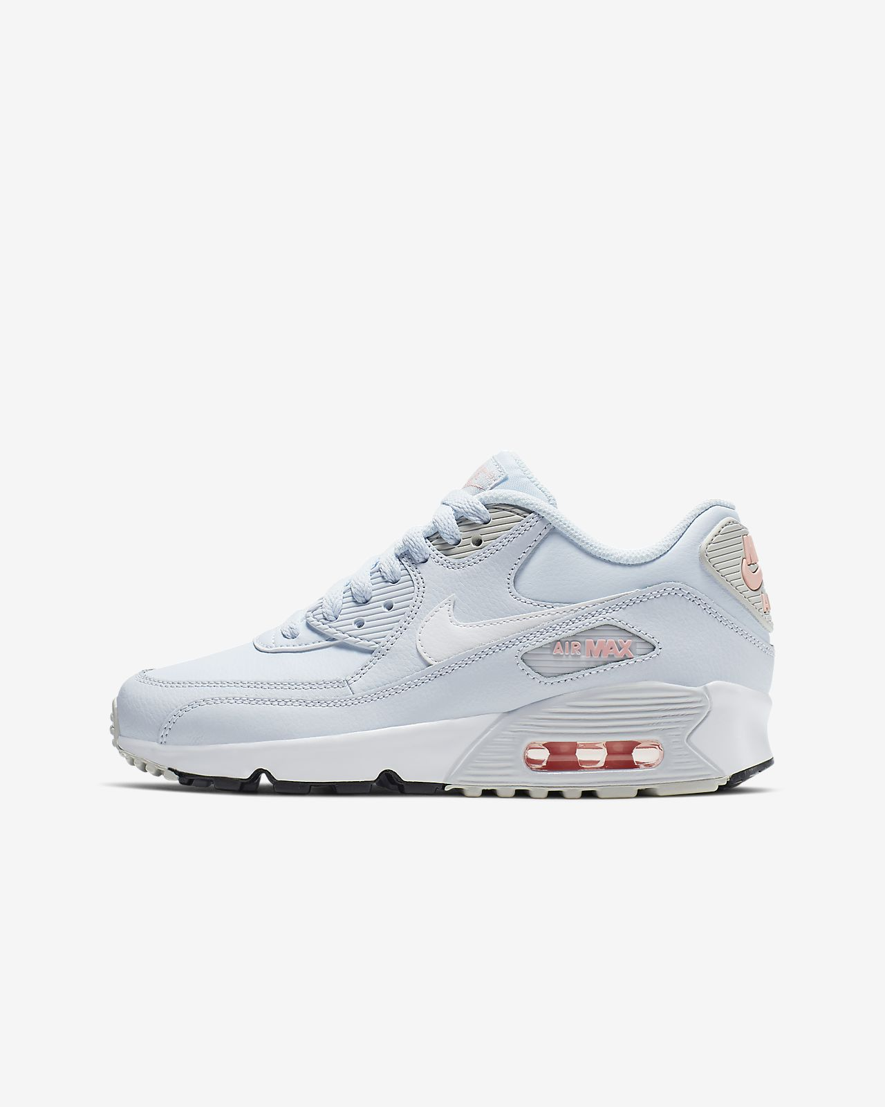 new concept 2a158 268ad Big Kids  Shoe. Nike Air Max 90 Leather