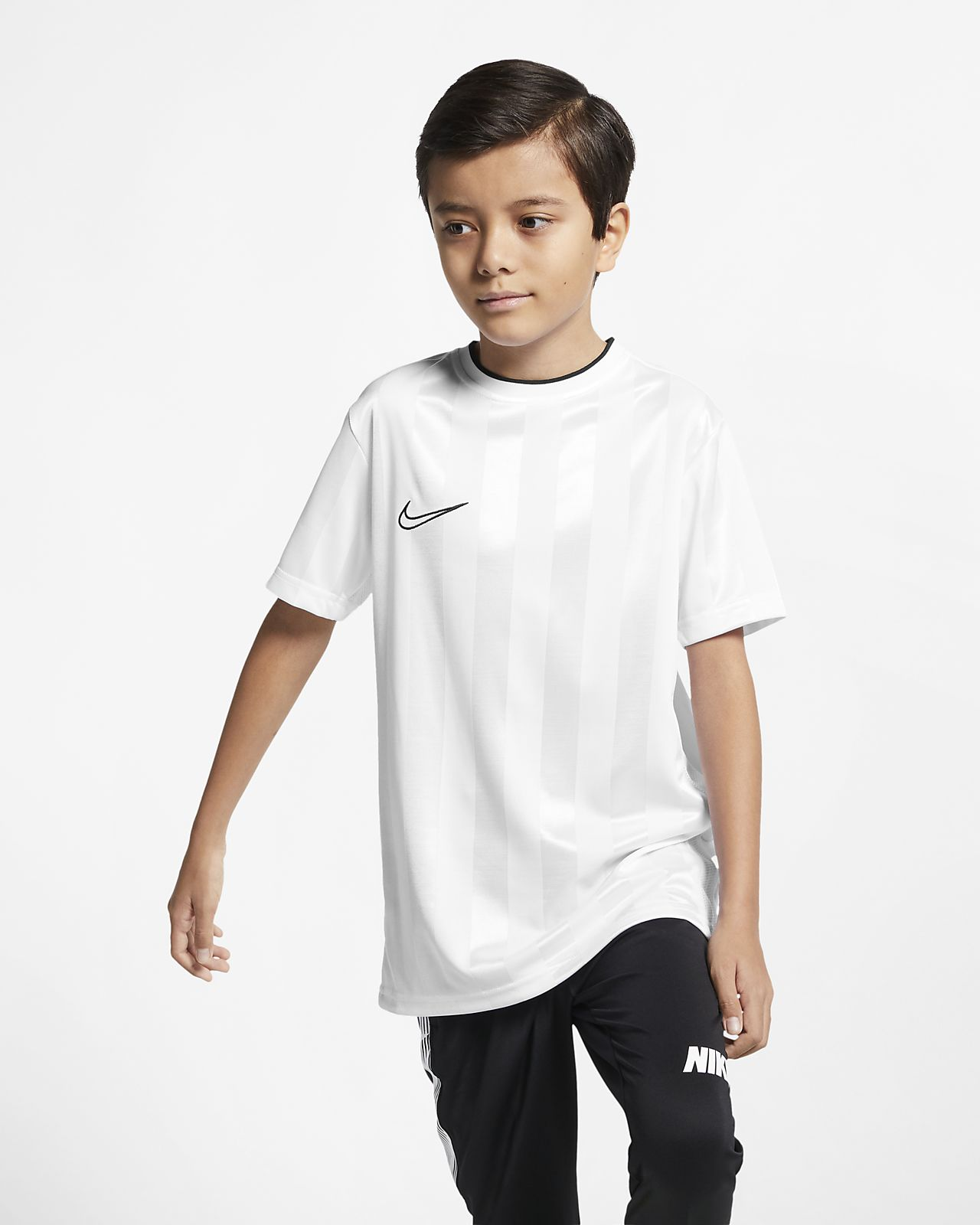 Kortærmet Nike Breathe Academy-fodboldtrøje til store børn