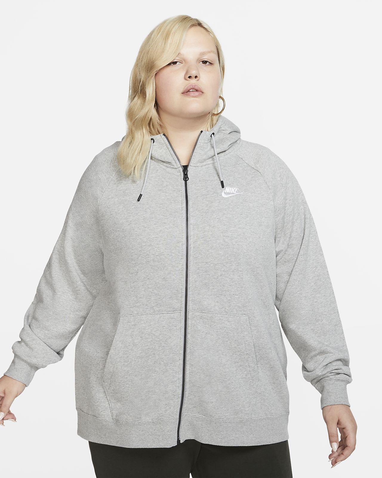 felpa donna con zip e cappuccio nike