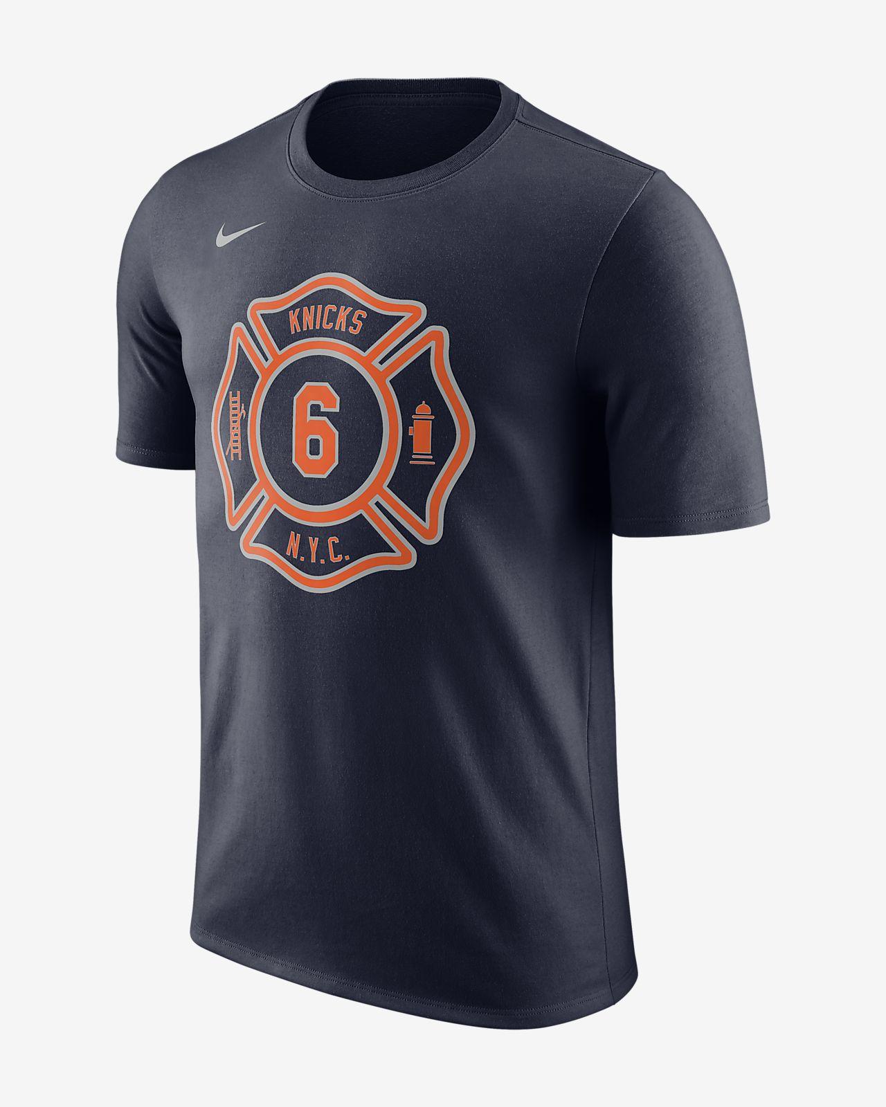 ... Kristaps Porzingis New York Knicks City Edition Nike Dry Men's NBA T- shirt