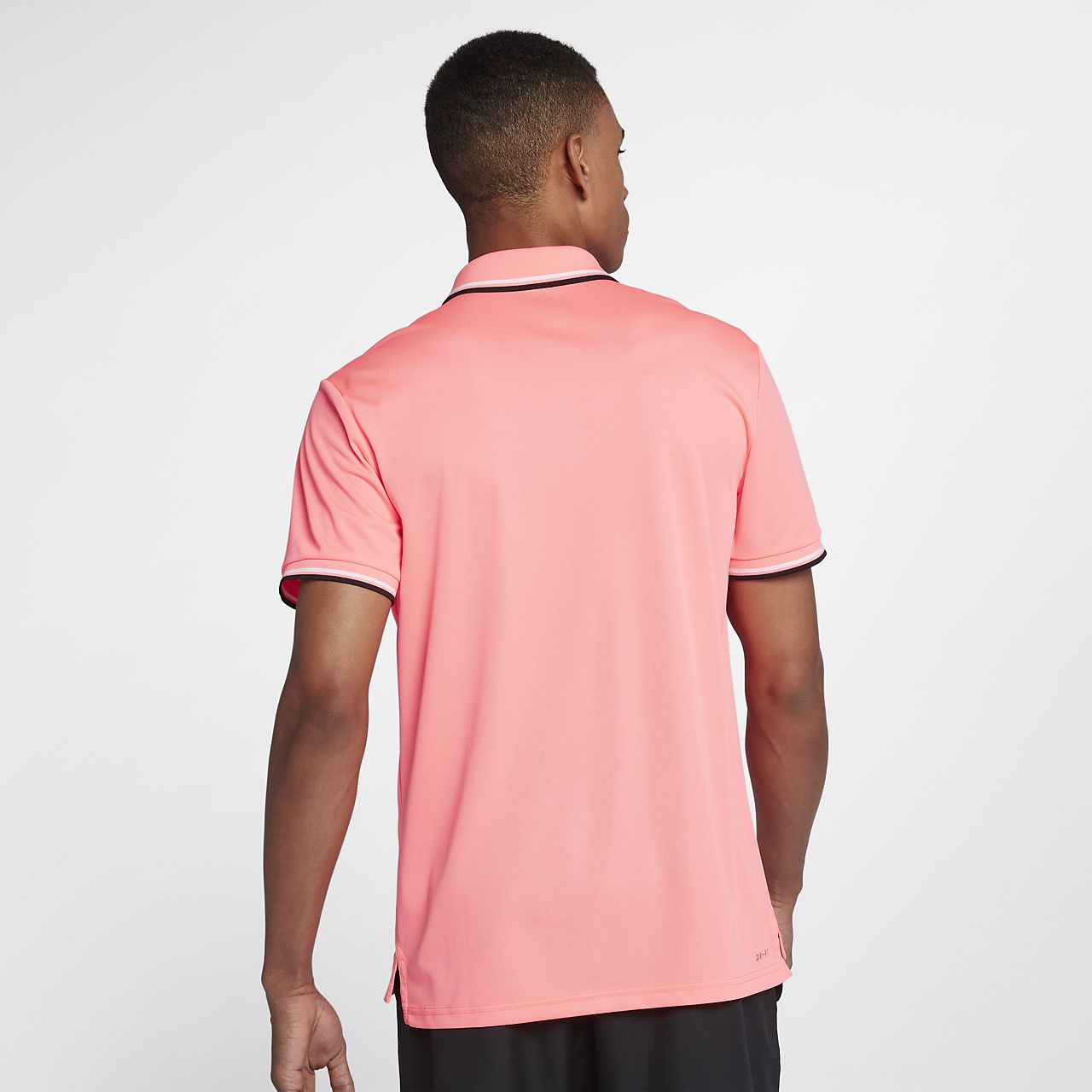 Nike - Court Dry Advantage Hommes Tennis Polo (rosa) - L rose