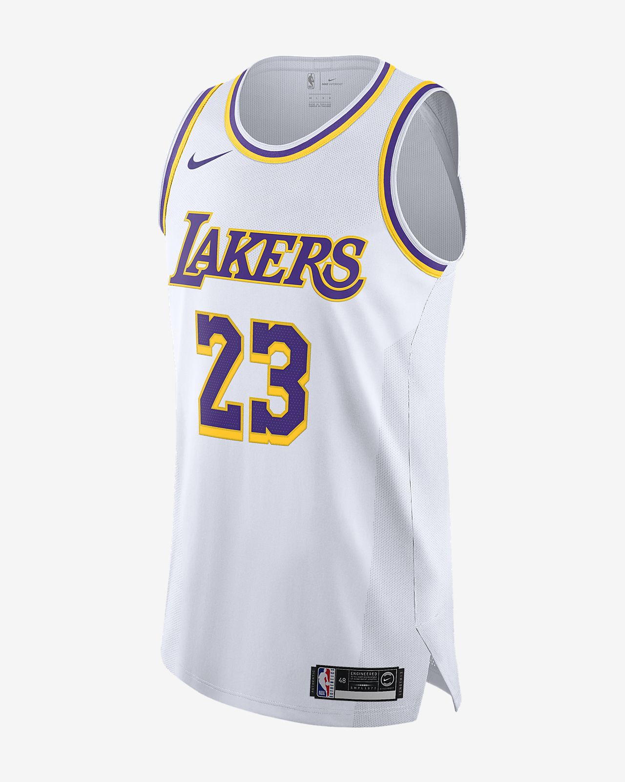quality design 00f5a 3157a LeBron James Association Edition Authentic (Los Angeles Lakers) Men's Nike  NBA Connected Jersey