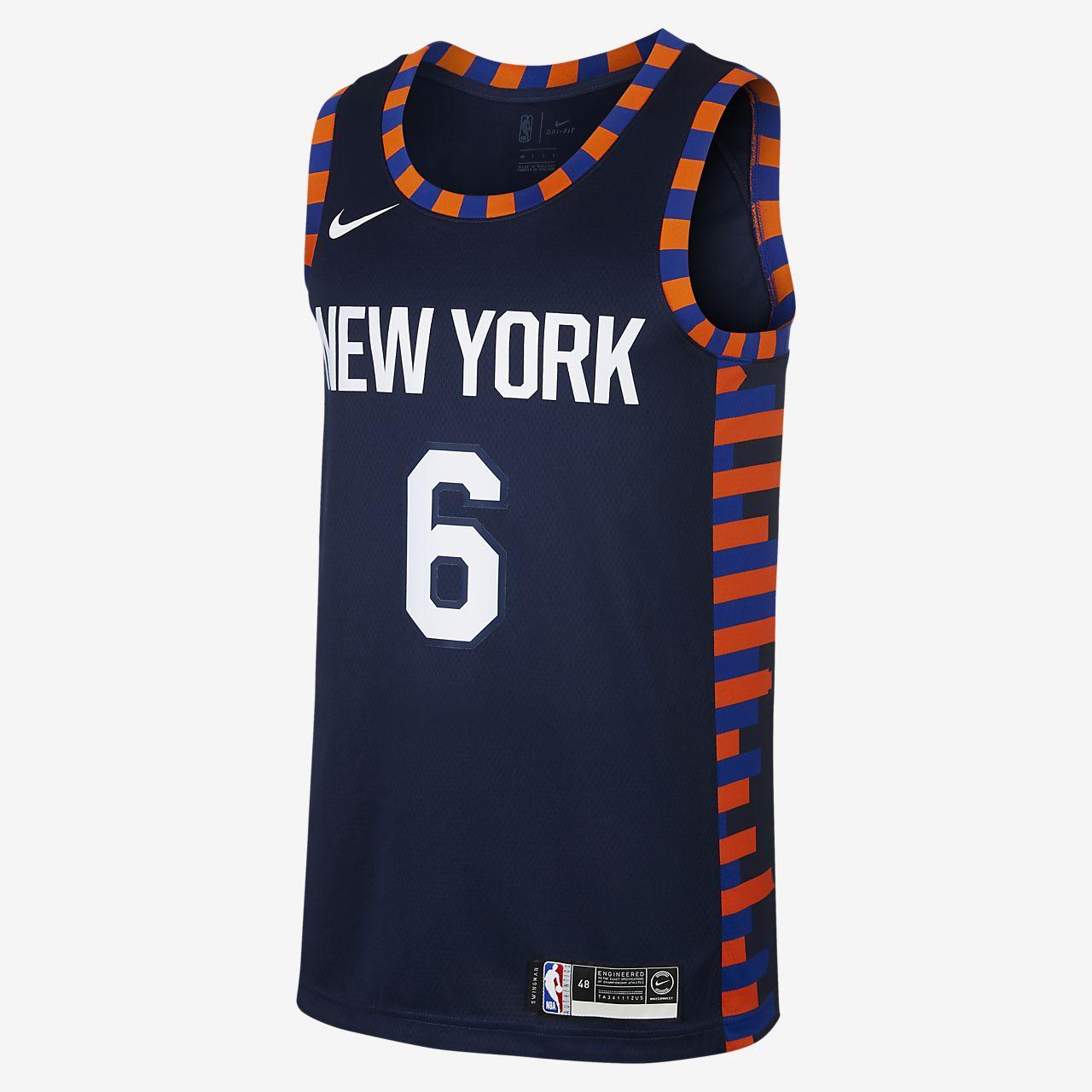 Camiseta conectada Nike NBA para hombre Kristaps Porzingis City Edition  Swingman (New York Knicks) da31e83b858b3