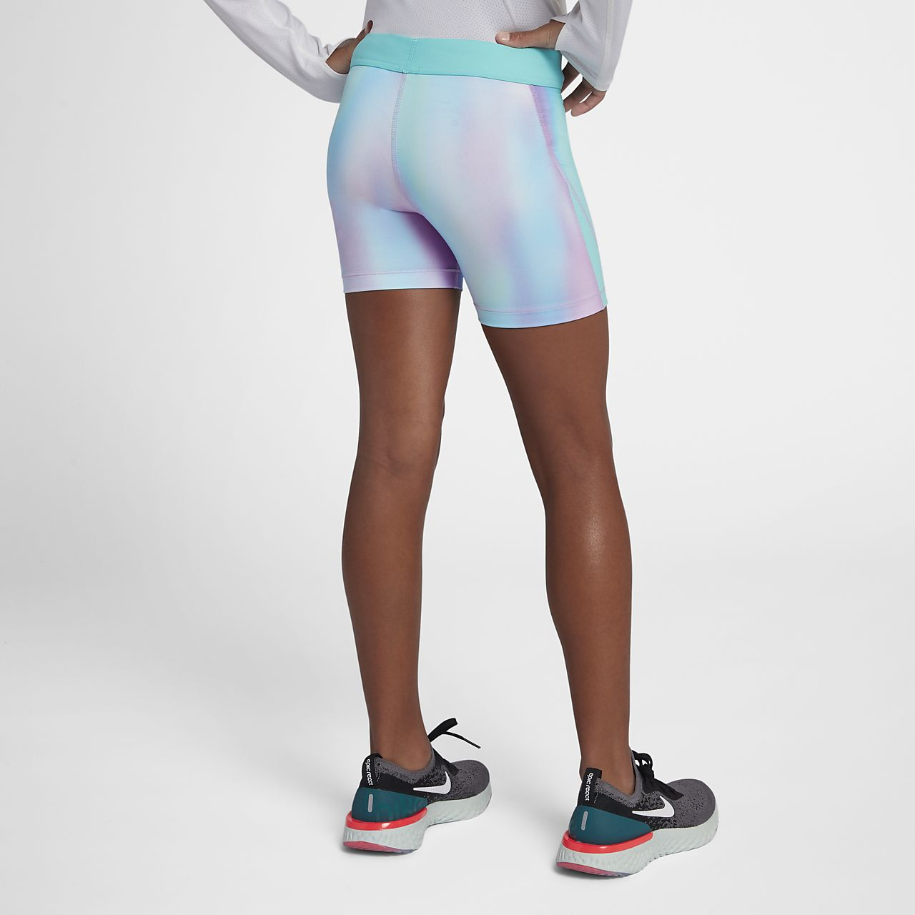 97150253a12617 Nike Pro Older Kids' (Girls') Printed Training Boyshorts. Nike.com NZ