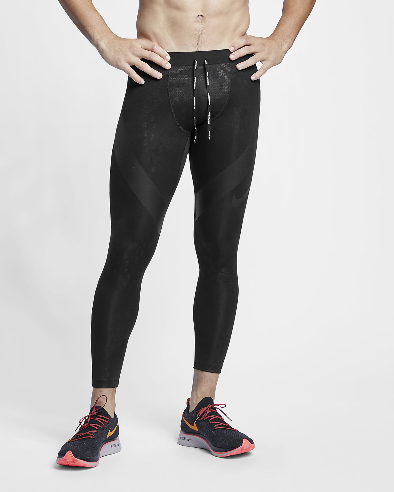 Nike Power Tech Lauf-Tights für Herren (ca. 69 cm)