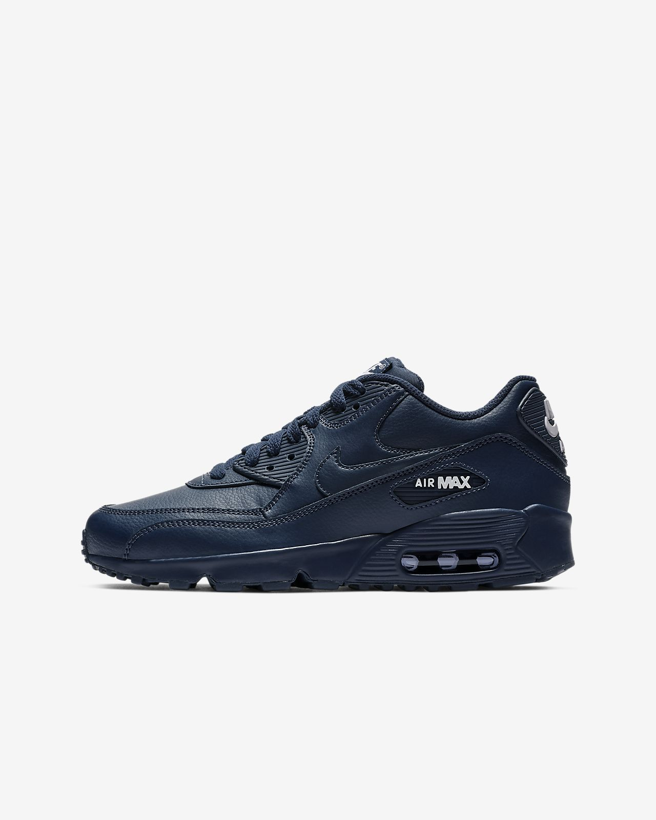 finest selection e1b01 00d82 ... Nike Air Max 90 Leather Big Kids  Shoe