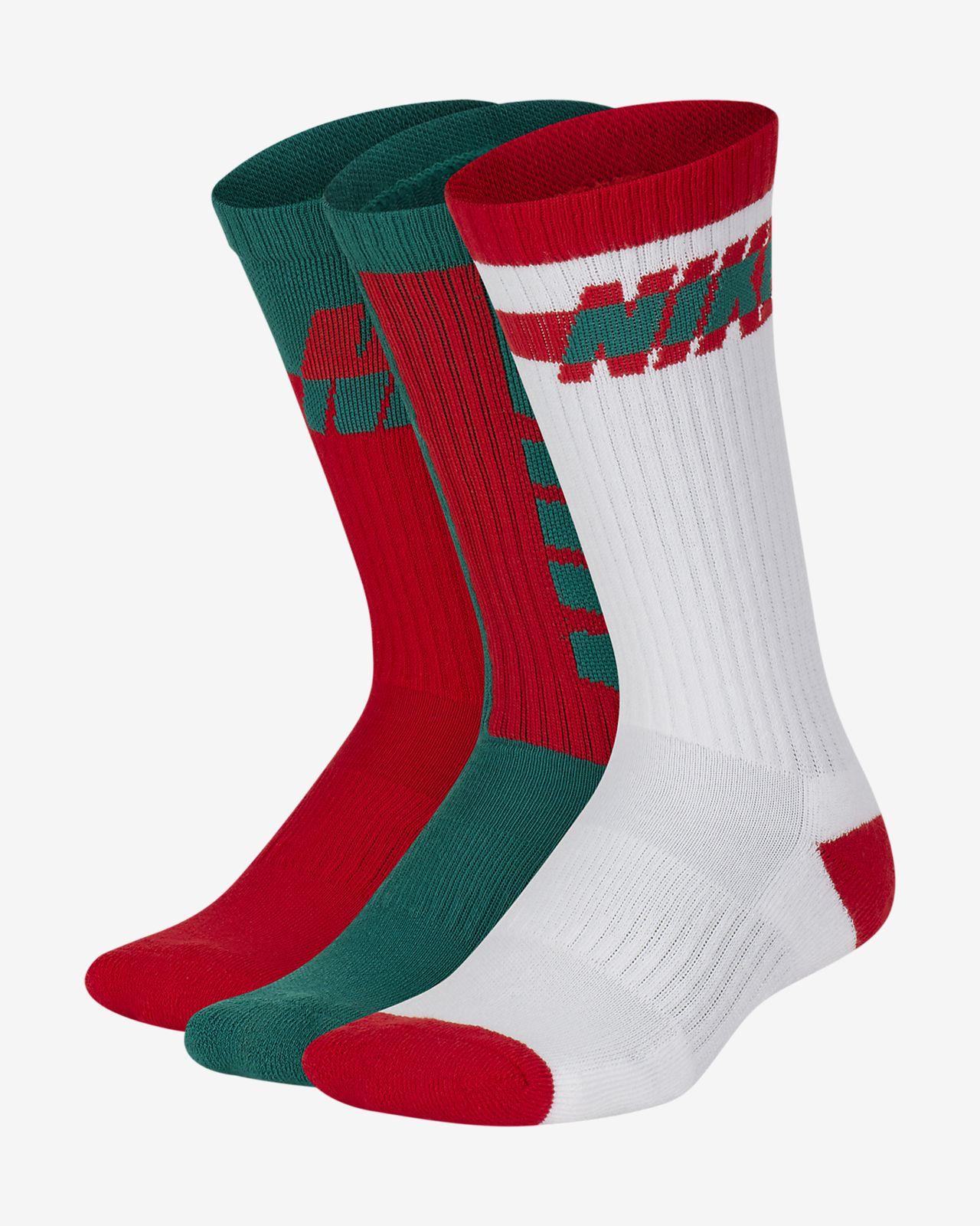 Nike Everyday Lightweight Kids' Crew Socks (3 Pairs)