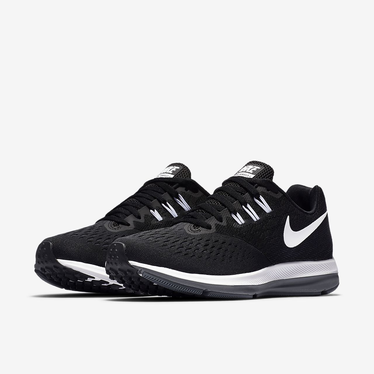 7 start Nike Mens Air Zoom Winflo Fashion 3 Running discounts Shoe Black/White