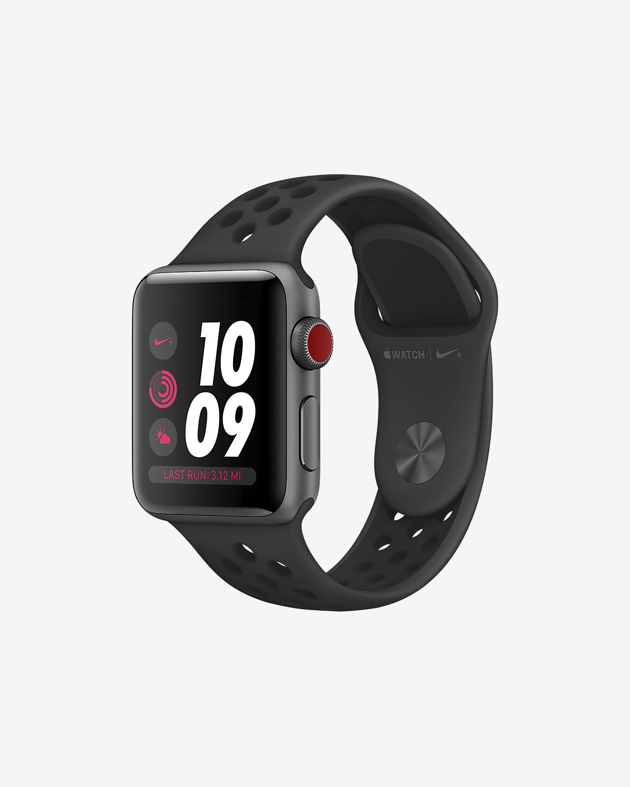Apple Watch Nike Series 3 (GPS + Cellular) 38mm Running Watch