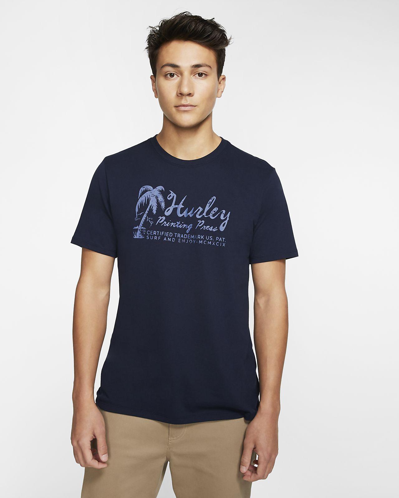 T-shirt com ajuste premium Hurley Dri-FIT Surf Imports para homem