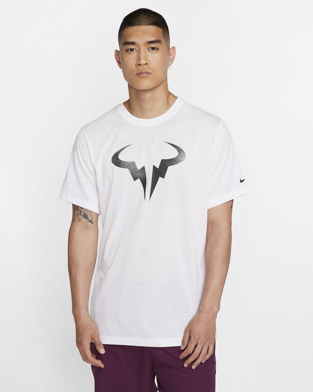 Męski T-shirt do tenisa z nadrukiem NikeCourt Dri-FIT Rafa