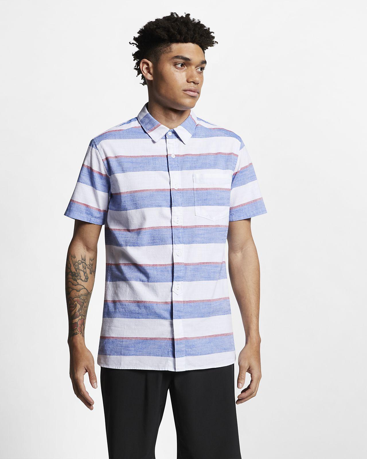 393fd751514c Hurley Blocked Men s Striped Short-Sleeve Shirt. Nike.com
