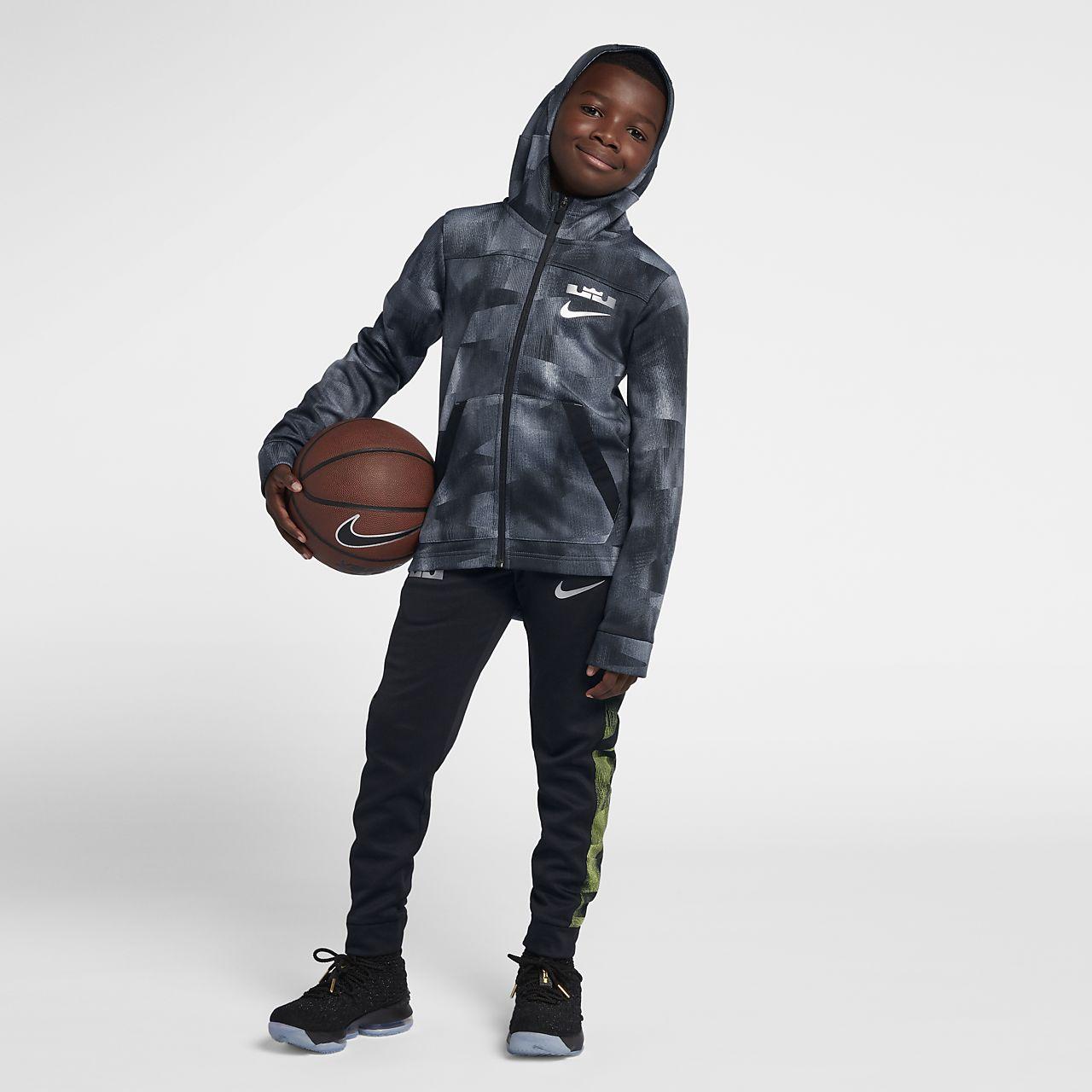 6492b905e505 LeBron Big Kids  (Boys ) Full-Zip Basketball Hoodie. Nike.com