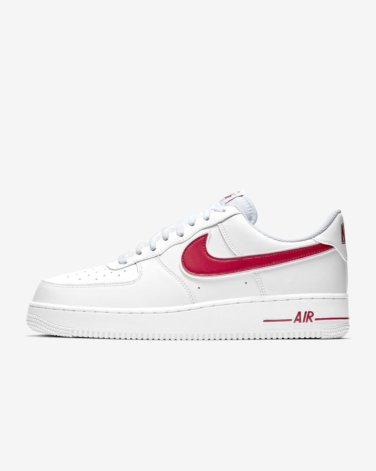 oben Nike Air Force 1 ´07 (weißrot) zu verkaufen Nike Air