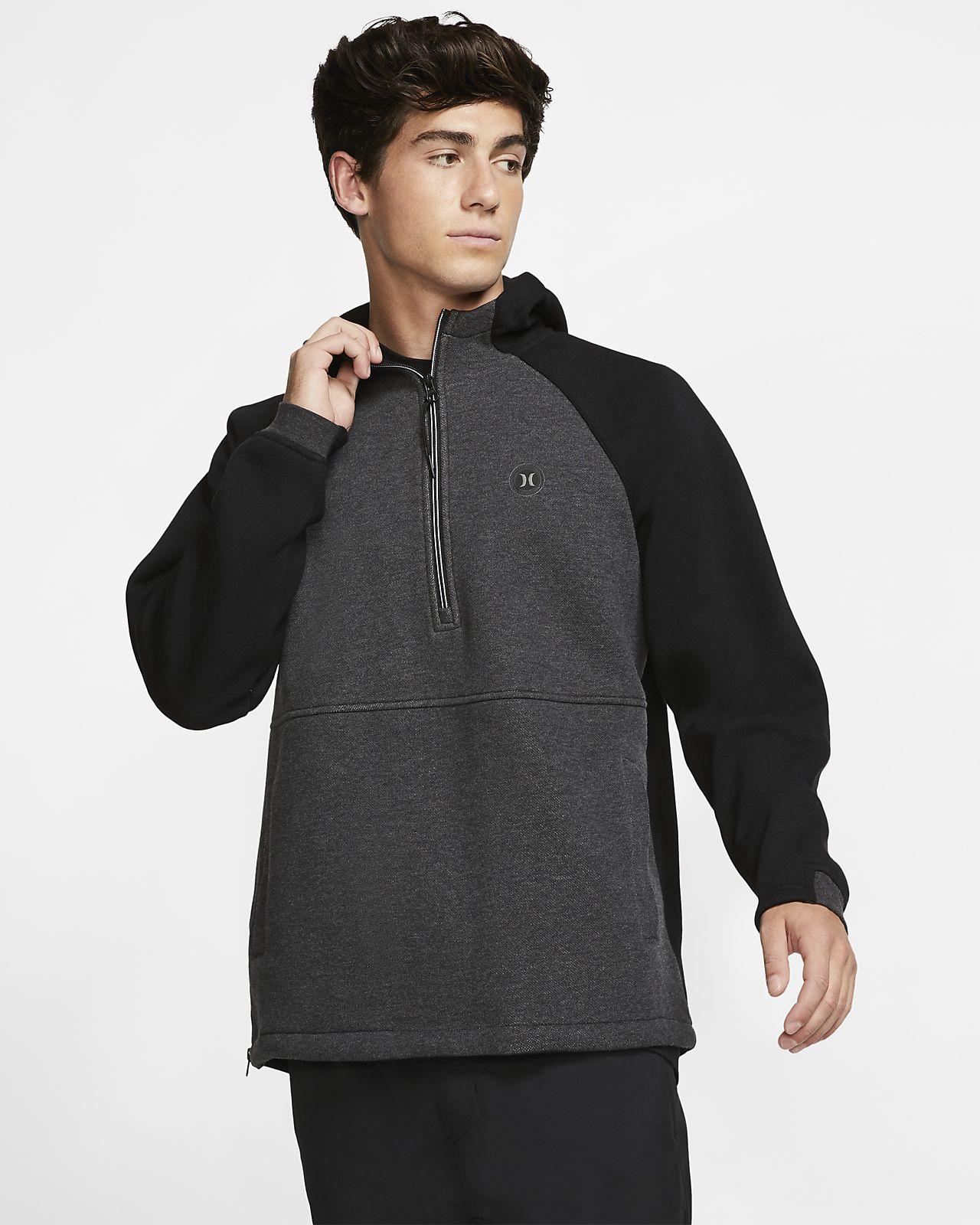 Sweat à capuche en tissu Fleece à 1/4 de zip Hurley Therma Endure Elite pour Homme