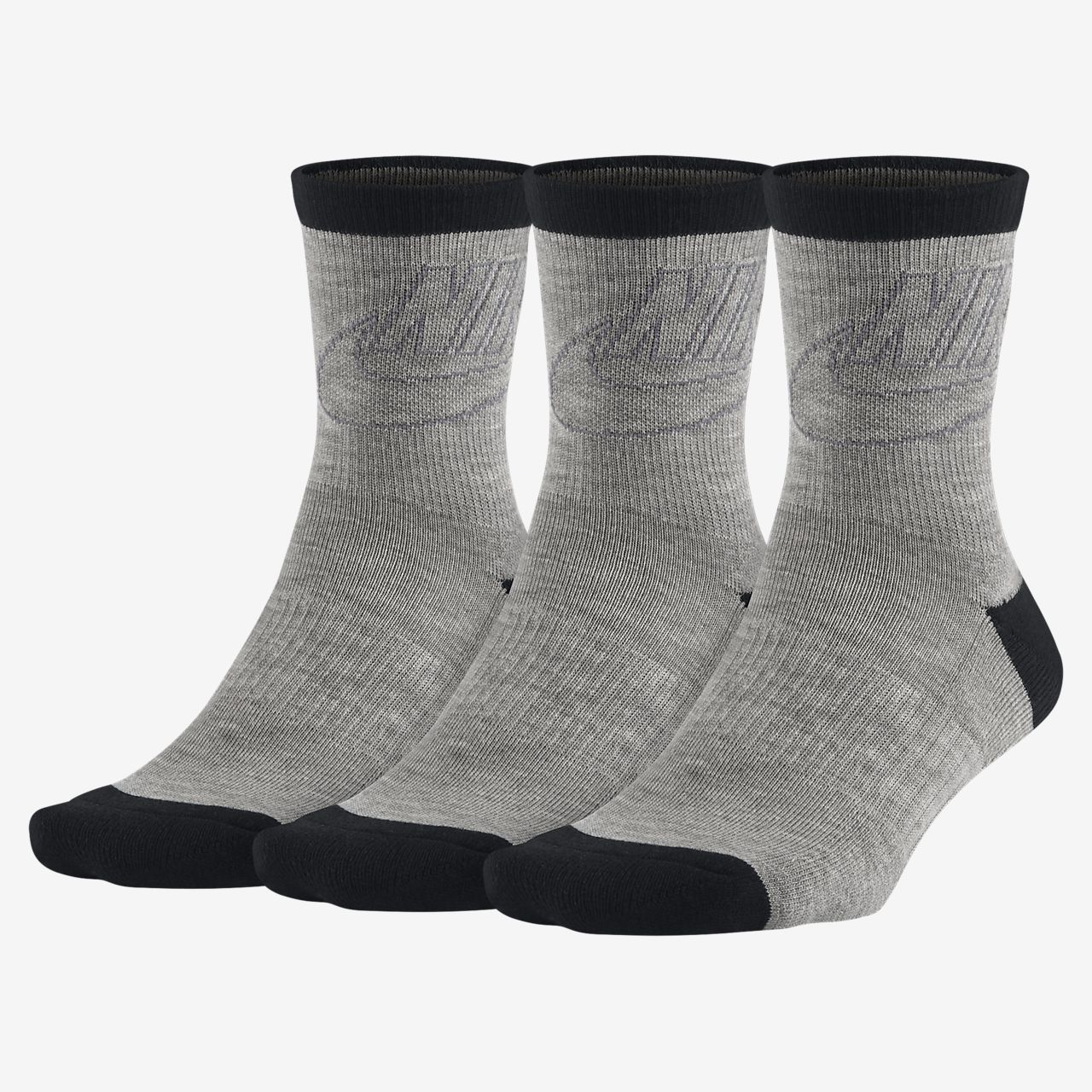 Nike Sportswear Striped Low Crew Socks (3 Pair)
