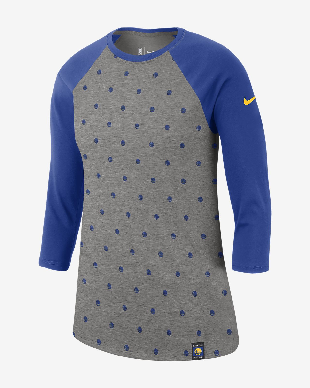 6e44dfcb7 Golden State Warriors Nike Dri-FIT Women's 3/4-Sleeve NBA T-Shirt ...