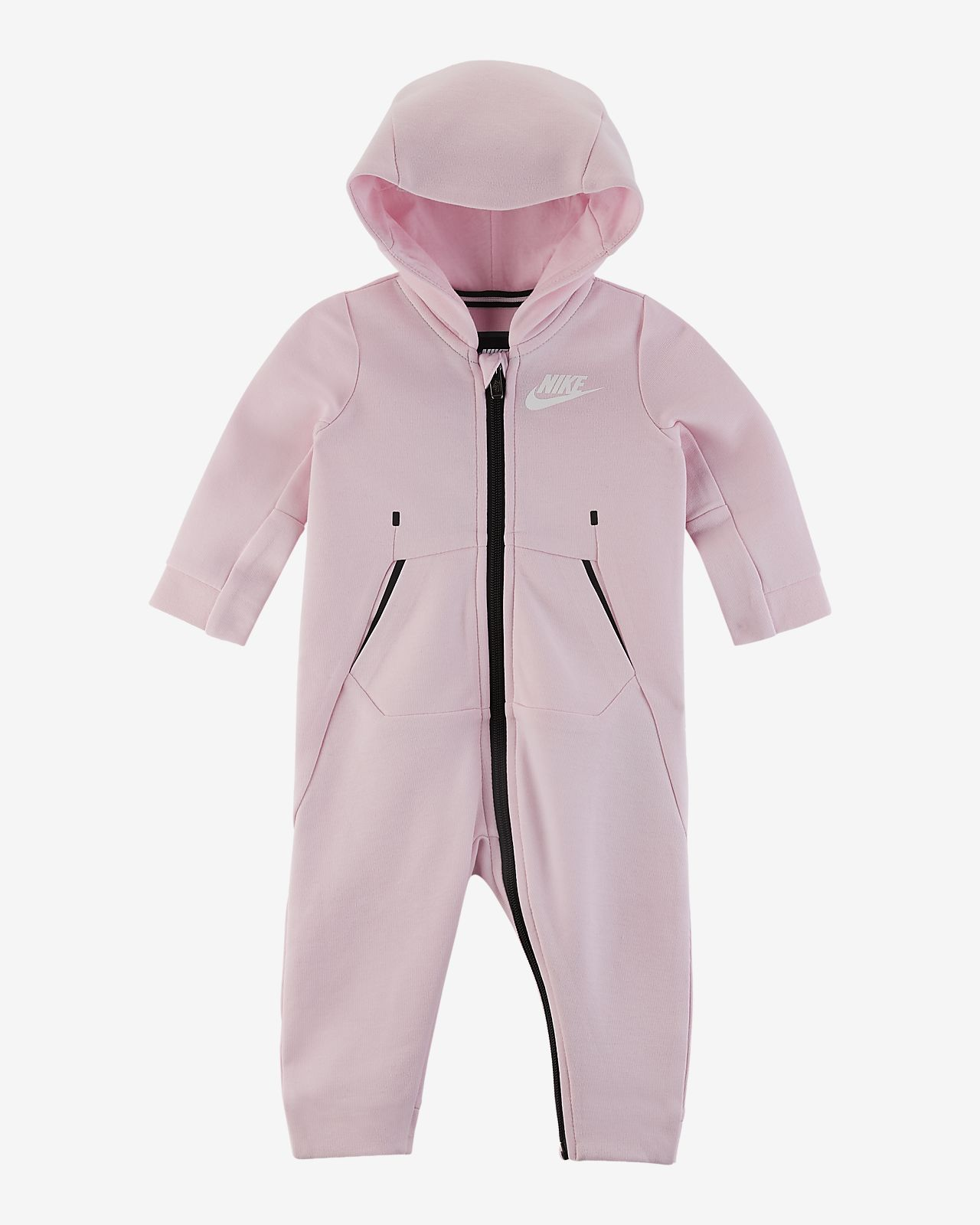 Nike Tech Fleece Coverall met capuchon voor baby's (0-9 maanden)