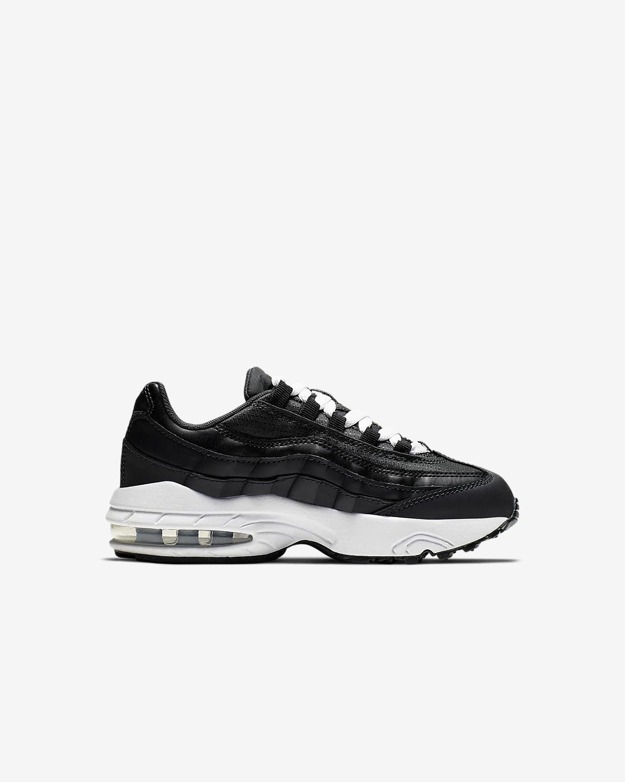 Black Silver White Nike Air Max 95 Mens Running Shoe Super Deals
