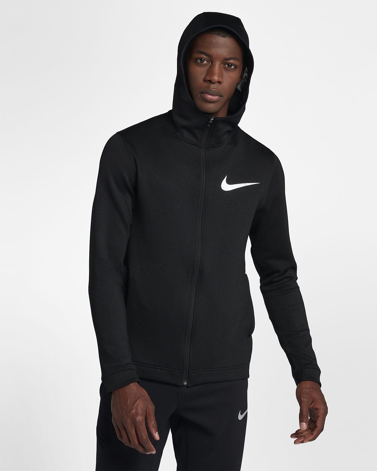 Hoodie de basquetebol com fecho completo Nike Therma Flex Showtime para homem