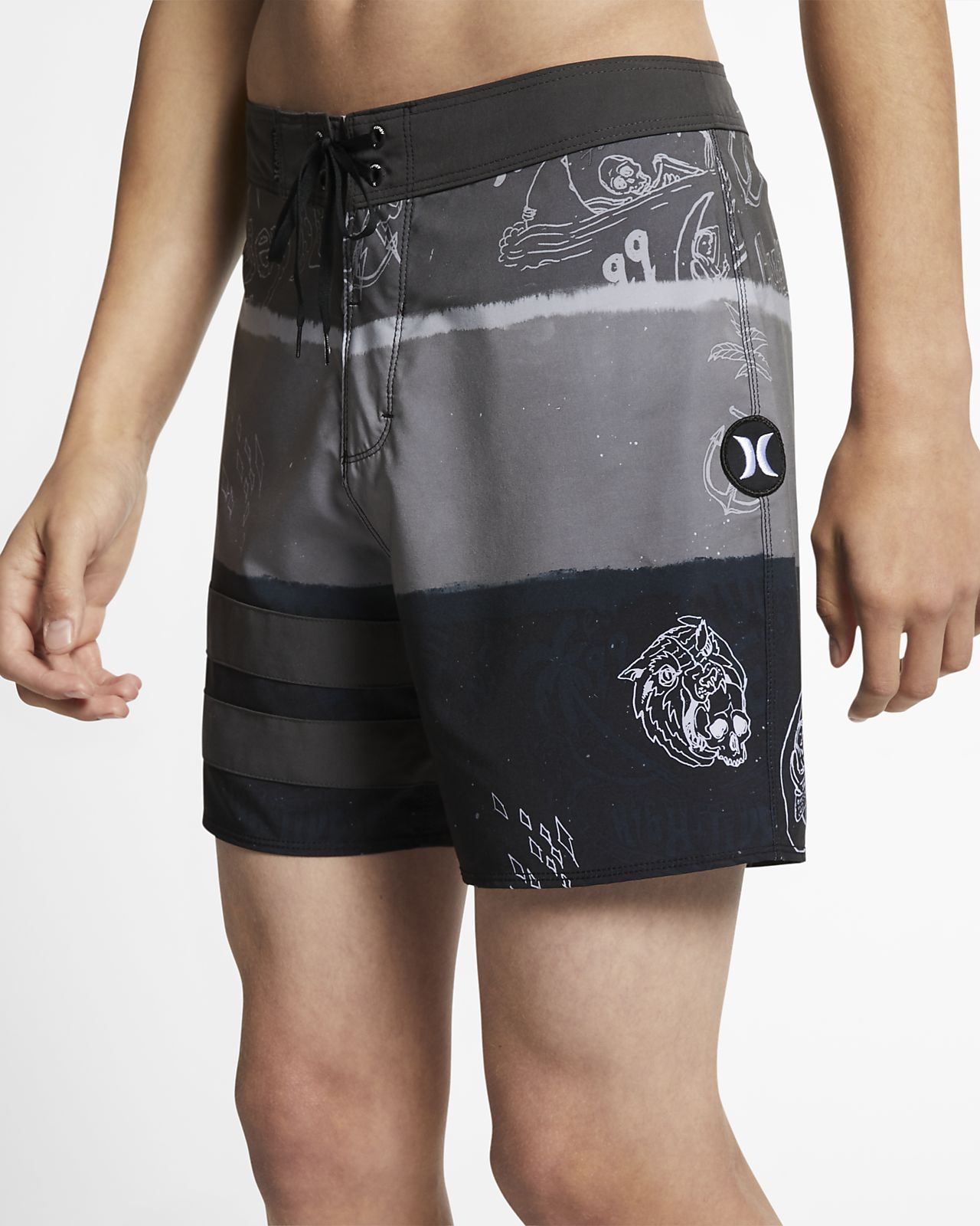 Shorts de playa de 41 cm para hombre Hurley Phantom Block Party Deceiver