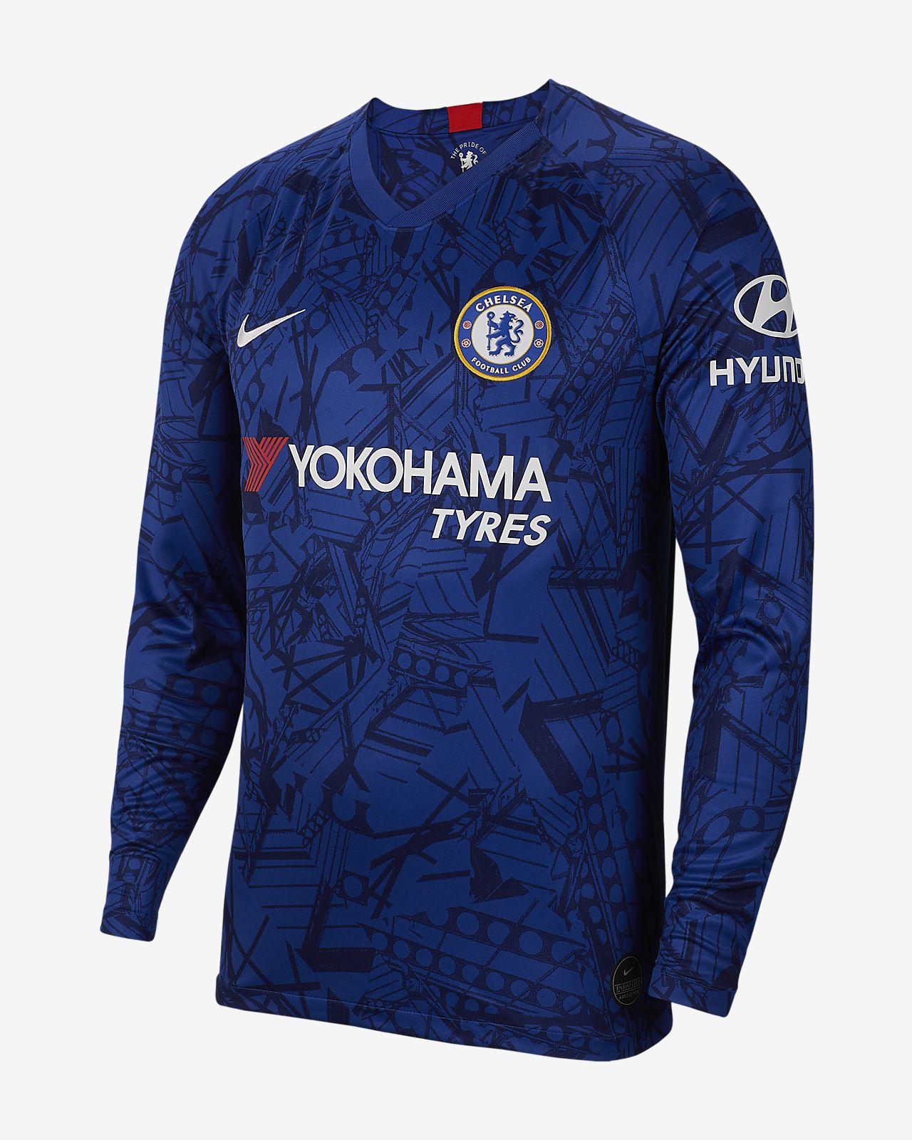 Chelsea FC 2019/20 Stadium Home Langarm-Fußballtrikot für Herren
