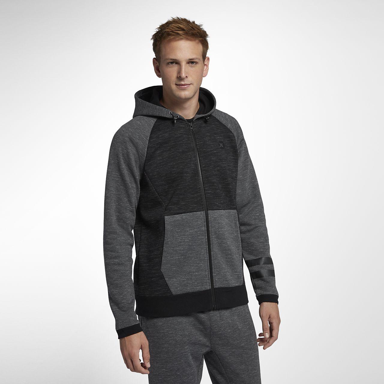 Hurley Phantom-fleecehættetrøje med lynlås i fuld længde til mænd